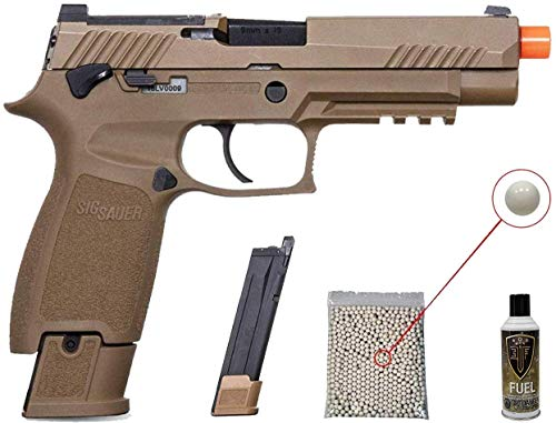 PF Airsoft Pistol 1 Sig Sauer Pro Force M17 Airsoft Green Gas Pistol with Pack of 1000 6mm .20g BBS Bundle