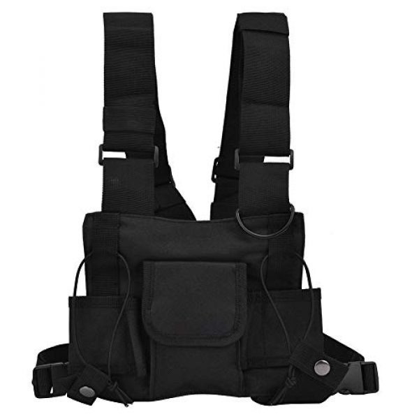 Alomejor Airsoft Tactical Vest 1 Alomejor Airsoft Vest Paintball Airsoft Protector Training Vest Waistcoat for Outdoor Camping Fishing Hiking Airsoft War Game