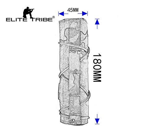 Elite Tribe Airsoft Tool 4 Elite Tribe Airsoft Tactical Rifle Suppressor Cover 18cm Quick Release Multicam