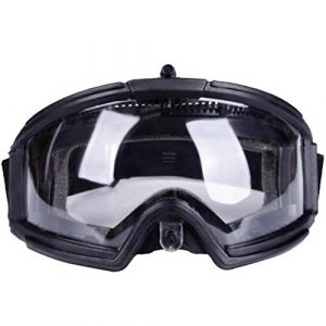 BESPORTBLE Airsoft Goggle 1 BESPORTBLE Safety Goggle Glasses CS Game Protective Glasses Outdoor Sports Ski Riding Eyewear Eye Protection Goggles for Airsoft Paintball (Black Style)