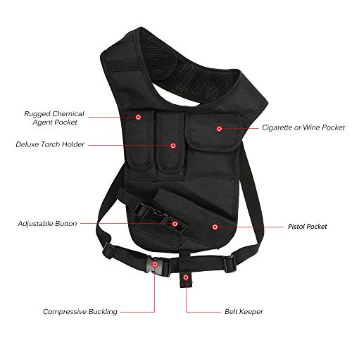 JSVDE Airsoft Gun Case 2 JSVDE Men's Shoulder Tactical Bag Concealed Carry Holster Waistband Airsoft Pistol Waterproof Nylon Stealth Tactical Accessory Bag