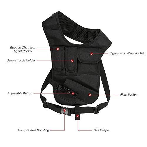 JSVDE  2 JSVDE Men's Shoulder Tactical Bag Concealed Carry Holster Waistband Airsoft Pistol Waterproof Nylon Stealth Tactical Accessory Bag
