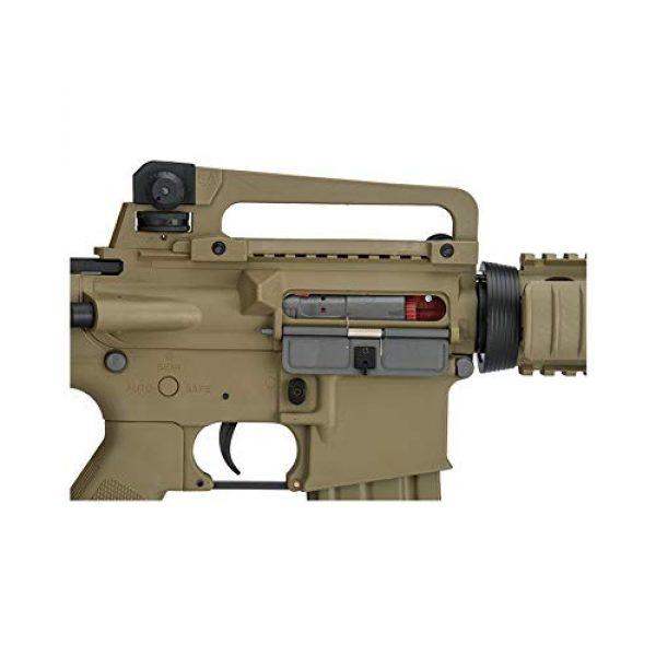 Lancer Tactical Airsoft Rifle 5 Lancer Tactical Gen 2 Upgraded RIS LT-04 AEG Metal Gear Electric Airsoft Gun, Dark Earth