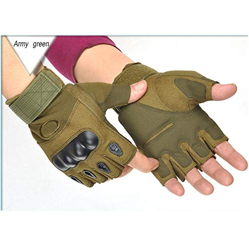 Jolies Airsoft Glove 2 Jolies Army Tactical Gloves Outdoor Full Finger and Half Finger Military Rubber Hard Knuckle Airsoft Paintball Gloves for Motorcycle Cycling Hunting Hiking Camping