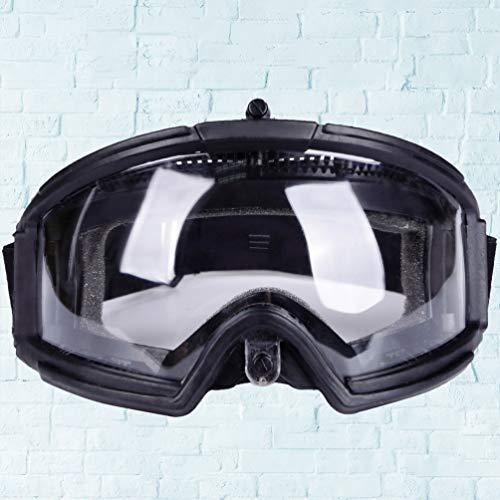 BESPORTBLE Airsoft Goggle 5 BESPORTBLE Protective Safety Goggle Anti-Fog Anti-Spitting Anti-Saliva Goggles Eyewear Eyeshield Safety Glasses -Black