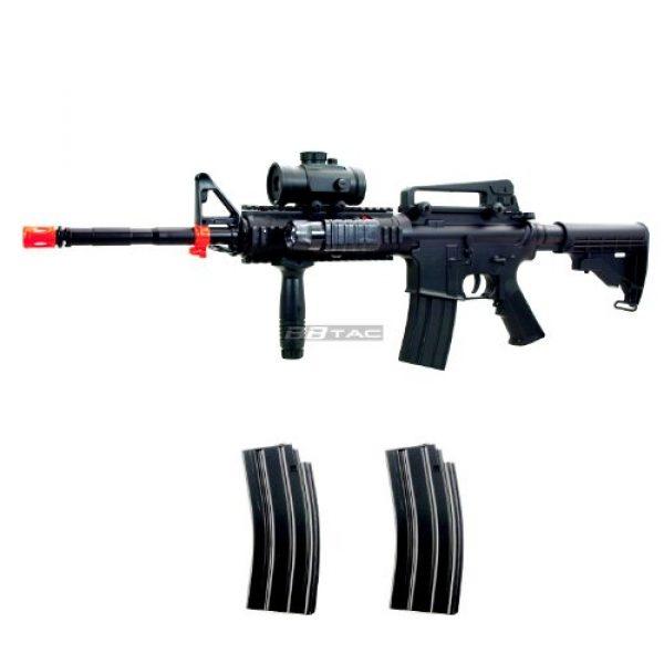 BBTac Airsoft Rifle 1 BBTac M83 Full Auto Electric Power Airsoft Gun LPEG/250 FPS/Red Dot Sight/Flash Light