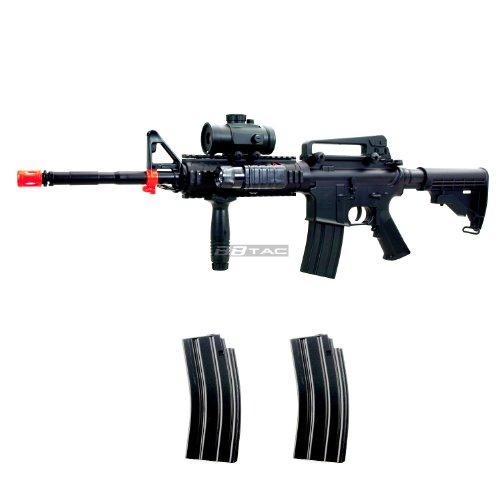 BBTac  1 BBTac M83 Full Auto Electric Power Airsoft Gun LPEG/250 FPS/Red Dot Sight/Flash Light