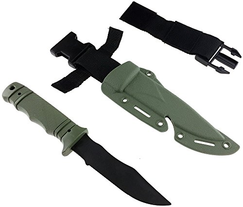 SportPro Airsoft Tool 5 SportPro Rubber Combat Knife M37 Style for Training Airsoft Olive Drab