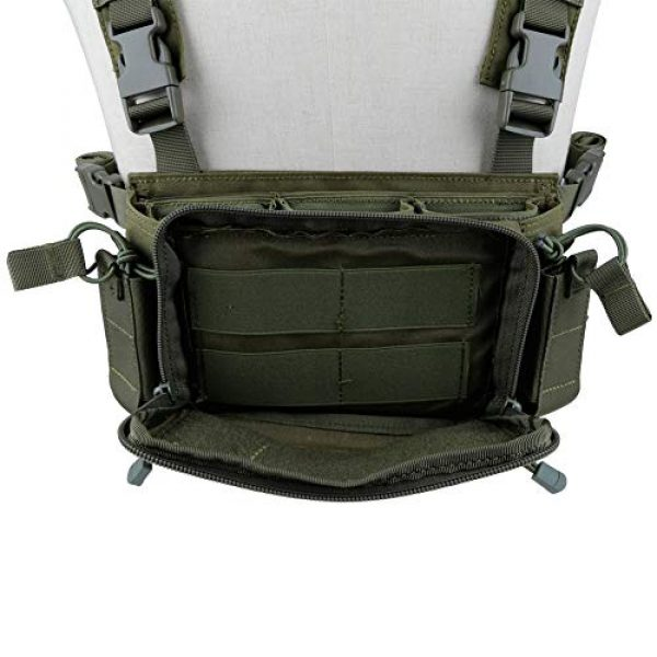 DETECH Airsoft Tactical Vest 5 DETECH Tactical Vest Airsoft Ammo Chest Rig 5.56 9mm Magazine Carrier with Molle Flatpack Backpack