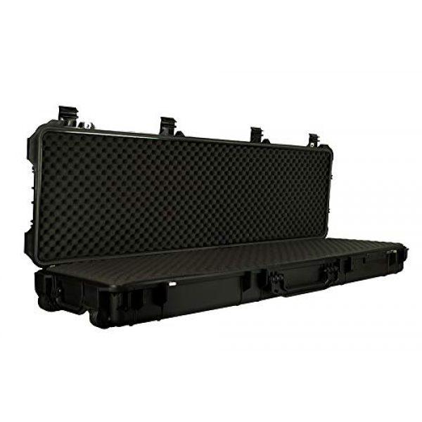 "Common Sense Cases Airsoft Gun Case 3 Common Sense Cases 5010 51"" Rifle/Shotgun Case With DIY Foam - Weather Resistant - Black - Internal Dimensions: 51"" x 14"" x 5"""