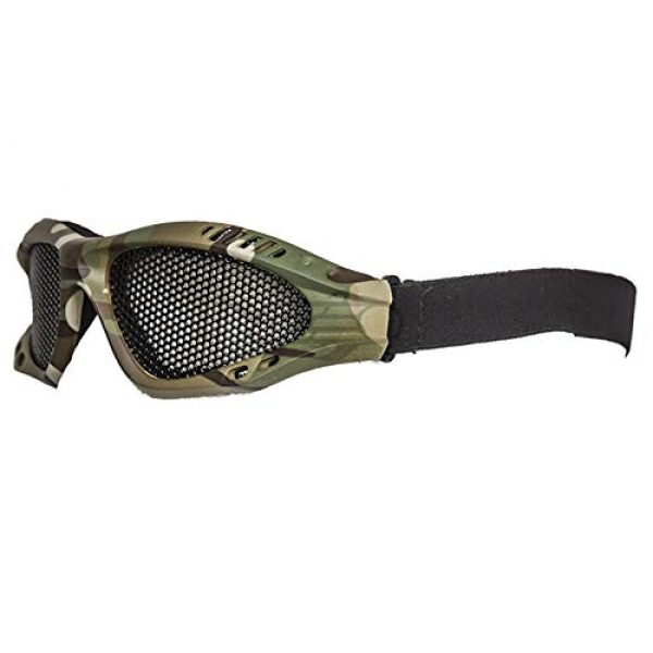 Lancer Tactical Airsoft Goggle 1 Lancer Tactical Emerson Low Profile Full Seal Mesh Goggles (Camo)