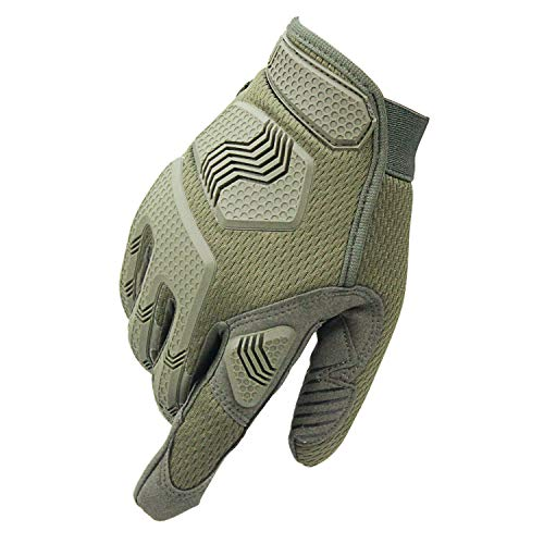 Fuyuanda Airsoft Glove 2 Rubber Protective Guard Full Finger Gloves for Outdoor Cycling Motorbike