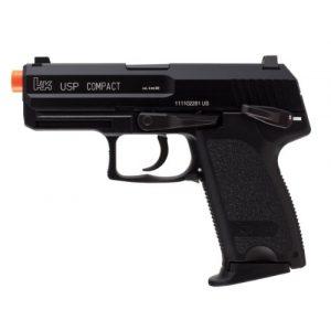 Umarex Airsoft Pistol 1 HK Heckler & Koch USP GBB Blowback 6mm BB Pistol Airsoft Gun, Black, HK USP Compact GBB (2275004)