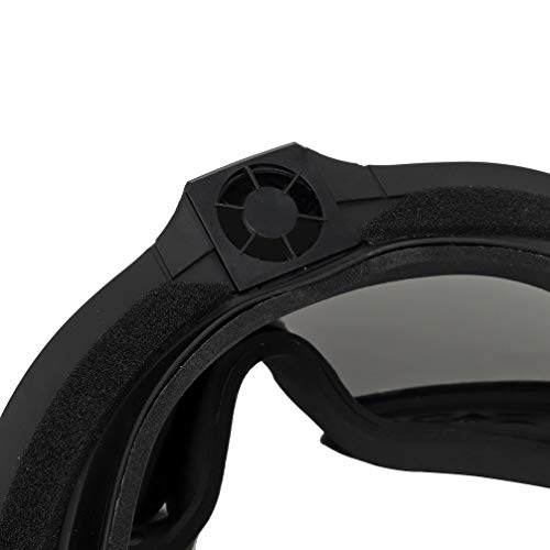 Simways Airsoft Goggle 6 Simways Airsoft Anti Fog Goggles with Fan Clear and Tinted Lens for Tactial Ski Riding Snowboard