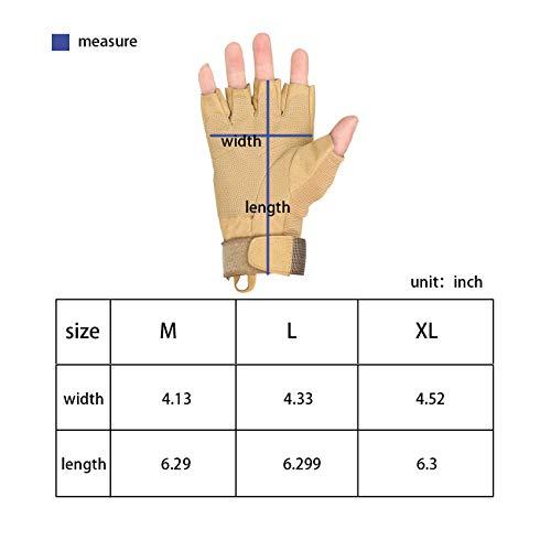 Military Ba Airsoft Glove 3 Military Ba Men's Black Special Ops 1/2 Finger Light Assault Gloves Tactical Fingerless Half Finger Gloves-M Black