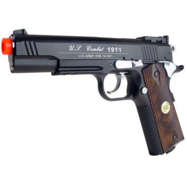 WG Airsoft Pistol 4 500 fps new full metal wg airsoft m 1911 gas co2 hand gun pistol w/ 6mm bb bbs(Airsoft Gun)