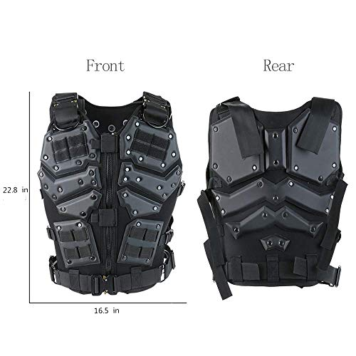 Armiya Airsoft Tactical Vest 2 Mens Molle Tactical Military Chest Rig Law Enforcement Work Vest Combat Condor Security Training Tool Pouch for Outdoor Paintball CS Game Airsoft Climbing Hiking