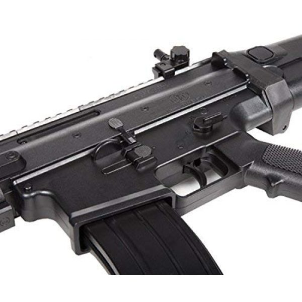 FN Airsoft Rifle 4 FN Scar-L Spring Powered Airsoft Rifle, Black, 400 FPS