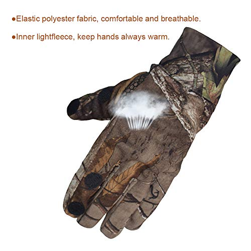 EAmber Airsoft Glove 5 Eamber Camouflage Hunting Gloves Full Finger/Fingerless Gloves Pro Anti-Slip Camo Realtree Glove Archery Accessories Hunting Outdoors (M) (L) (L)