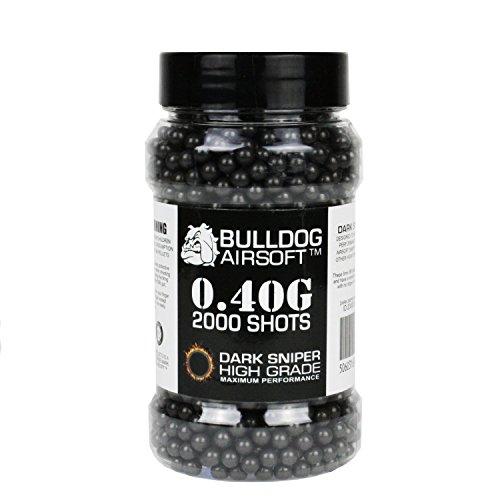 BULLDOG AIRSOFT Airsoft BB 1 Bulldog 0.40g 2000 Dark Sniper Airsoft BB Pellets Black
