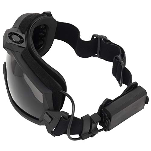 Simways Airsoft Goggle 3 Simways Airsoft Anti Fog Goggles with Fan Clear and Tinted Lens for Tactial Ski Riding Snowboard