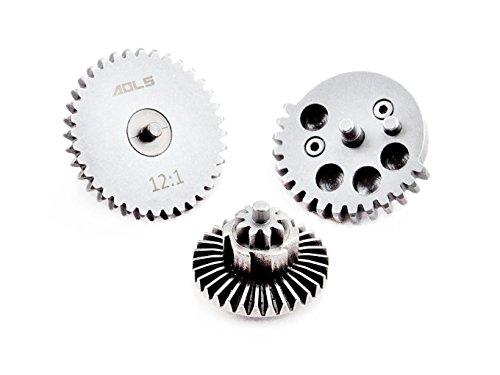 AOLS Airsoft Gear Set 1 AOLS 12: 1 AEG Gear Set Reinforced Steel with High Speed