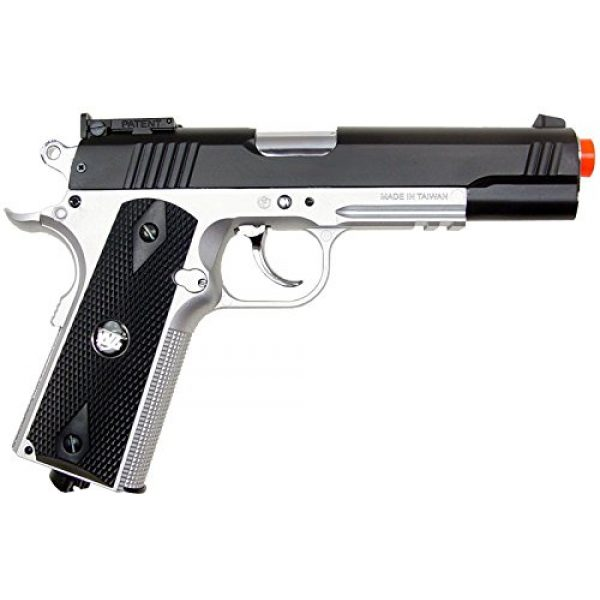 WG Airsoft Pistol 4 500 FPS NEW WG AIRSOFT FULL METAL M 1911 GAS CO2 HAND GUN PISTOL w/ 6mm BB BBs,Heavy Weight Realistic 1:1 Scale
