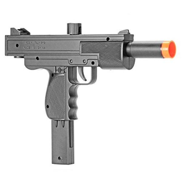 BBTac Airsoft Rifle 1 BBTac Airsoft Pistol UZI Style Spring Loaded Cock and Shoot Single Shot Airsoft Gun (800023)