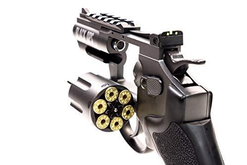 Black Ops Air Pistol 3 Black Ops Exterminator 2.5 Inch Revolver - Gun Metal Finish - Full Metal CO2 BB/Pellet Gun - Shoot .177 BBs or Pellets