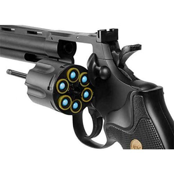TSD Sports Airsoft Pistol 5 TSD Sports UA938B 6 inch Spring Powered Airsoft Revolver (Black)