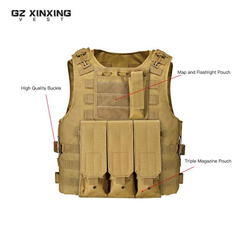 GZ XINXING Airsoft Tactical Vest 7 GZ XINXING 100% Full Refund Assurance Tactical Airsoft Vest