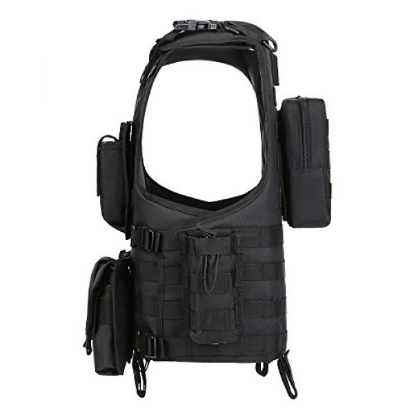 GZ XINXING Airsoft Tactical Vest 3 GZ XINXING Black Tactical Airsoft Paintball Vest