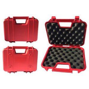 SRC Pistol Case 1 SRC Red Premium Quality Padded Foam Durable Plastic Pistol Gun Case