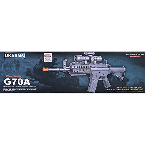 UKARMS Airsoft Rifle 7 UKArms M4 A1 M16 TACTICAL ASSAULT SPRING AIRSOFT RIFLE PELLET SNIPER GUN 6mm BB BBs Air