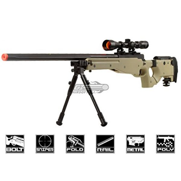 Well Airsoft Rifle 1 Well Full Metal MB08 Bolt Action Sniper Rifle (Tan/Scope Package)