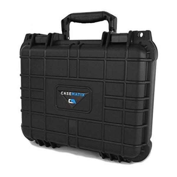 "CASEMATIX Pistol Case 2 CASEMATIX 13"" Two Gun Hard Case for 2 Handguns - Waterproof & Shockproof 2 Pistol Hard Case, Double Handgun Case with Accessory Storage for Multiple Magazines, Ammo Box and Other Accessories"