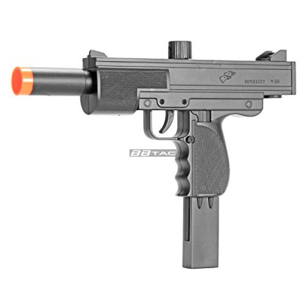 BBTac Airsoft Rifle 2 BBTac Airsoft Pistol UZI Style Spring Loaded Cock and Shoot Single Shot Airsoft Gun (800023)