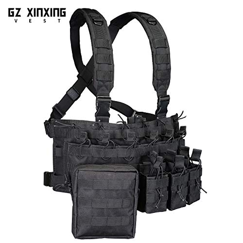 GZ XINXING Airsoft Tactical Vest 3 GZ XINXING Chest Rig Tactical Vest X Harness for Airsoft Shooting Wargame Paintball