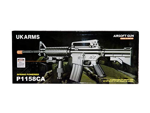 UK  5 UK ARMS P1158CA Spring Airsoft Rifle M4A1 Carbine M4 AR15 AR-15 Assault Rifle