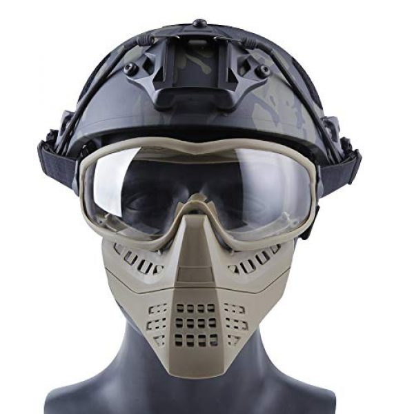 Aoutacc Airsoft Goggle 3 Aoutacc Airsoft Goggles Removable Face Mask