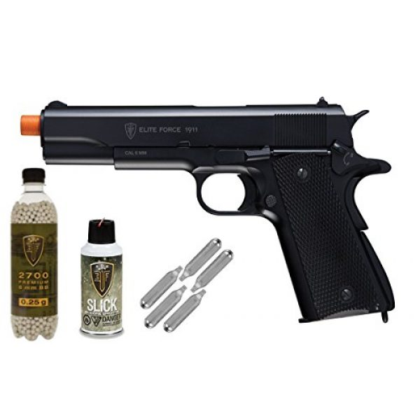 Elite Force Airsoft Pistol 1 Elite Force 1911A1 Full Metal CO2 Blow Back Airsoft Pistol - Package Deal