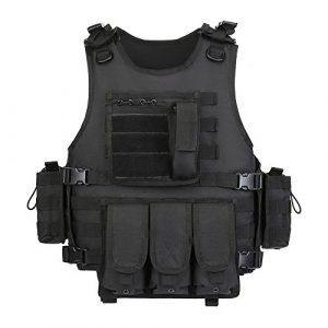 GZ XINXING Airsoft Tactical Vest 1 GZ XINXING Black Tactical Airsoft Paintball Vest