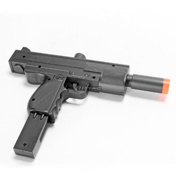 BBTac Airsoft Rifle 7 BBTac Airsoft Pistol UZI Style Spring Loaded Cock and Shoot Single Shot Airsoft Gun (800023)