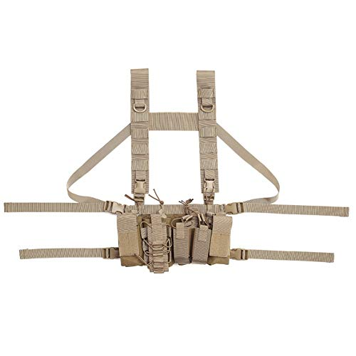 Coherny  1 Coherny Men Women Tactical Chest Rig Bag Radio Harness Chest Front Pack Pouch Holster Military Vest Chest Rig Bag Adjustable Two Way Radio Pocket Waist Pack