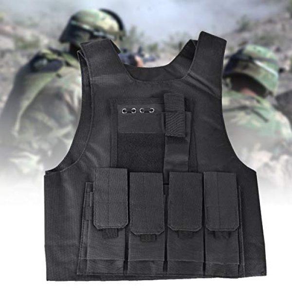 Jacksking Airsoft Tactical Vest 3 Jacksking Tactics Vest,Outdoor Military Children Tactics Vest Sports Waterproof Protector Training Accessory