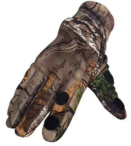 SHAWINGO Airsoft Glove 5 SHAWINGO Camouflage Hunting Gloves Cut Finger Camo Gloves for Archery Fishing Shooting