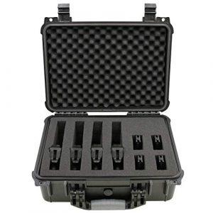 "CASEMATIX  1 CASEMATIX 16"" 4 Pistol Multiple Pistol Case - Waterproof & Shockproof Hard Gun Cases for Pistols"