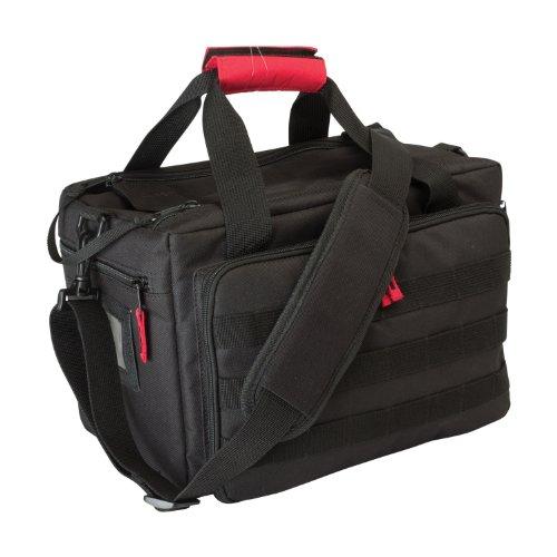 Allen Company Pistol Case 2 Allen Ruger Shooting Range Bag with Pistol Rug, MOLLE Loops & Ammo Carrier