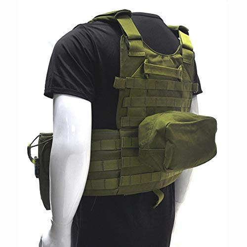 Fouos  6 Fouos Tactical Vest 600D Modoular Protective Durable Waistcoat for Airsoft Wargame Hunting and Outdoor Sports Activities