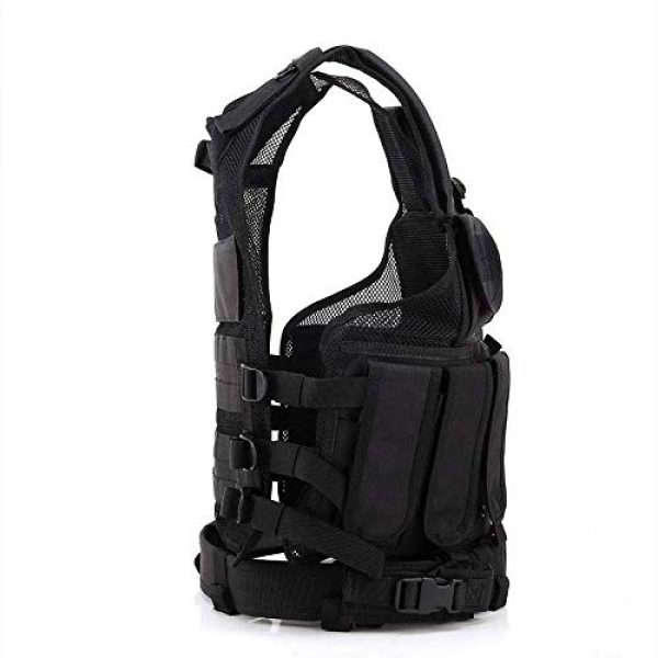 Fouos Airsoft Tactical Vest 4 Fouos Tactical Vest Camouflage Vest Body Armor Molle Outdoor Equipment Paintball Airsoft Combat Protective Vest Men